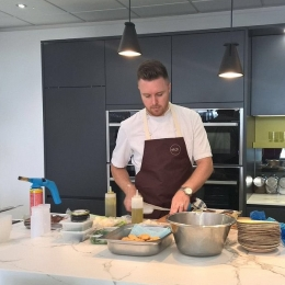 Steven Edwards cookery demo